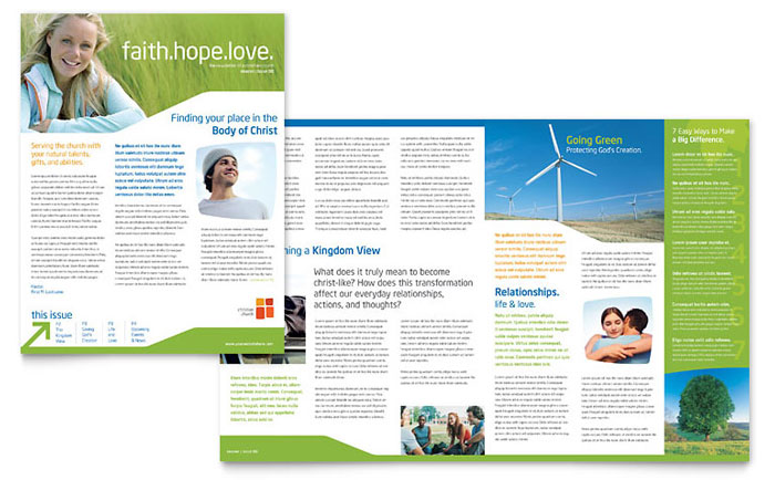 Church Youth Ministry Newsletter Design