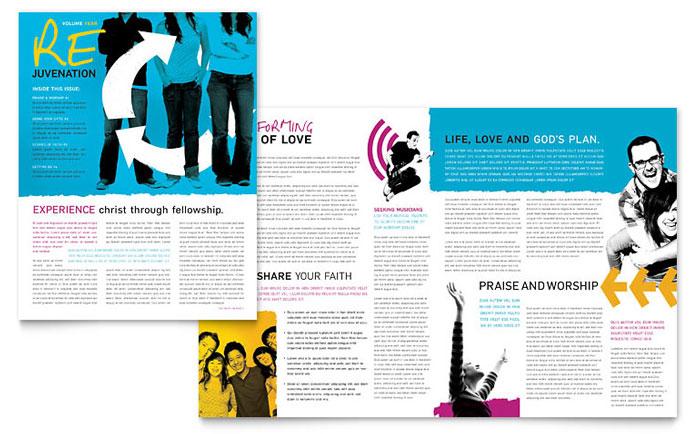 Church Outreach Ministries Newsletter Design