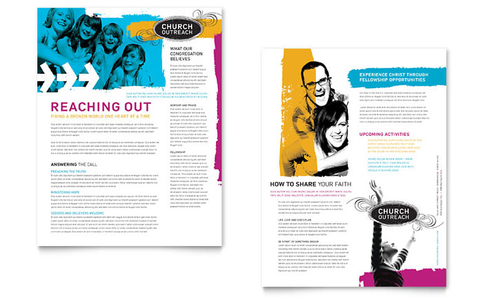 Church Outreach Ministries Newsletter Design