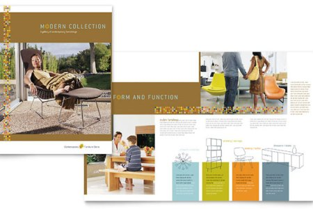 Retail   Sales Brochures   Templates   Design Examples Furniture Store Brochure Template