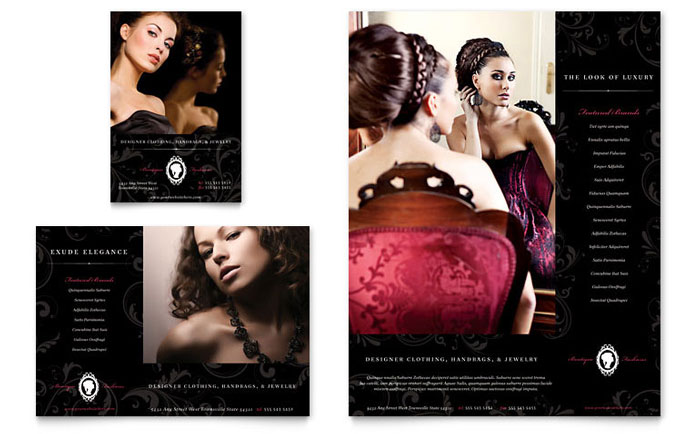 Fashion & Jewelry Boutique Flyer & Advertisements