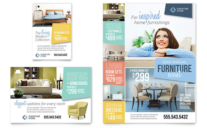 Home Furniture Flyer & Advertisement Sample