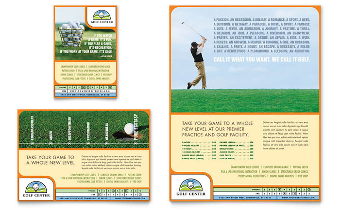 Golf Instructor Amp Course Flyer Amp Ad Template Design