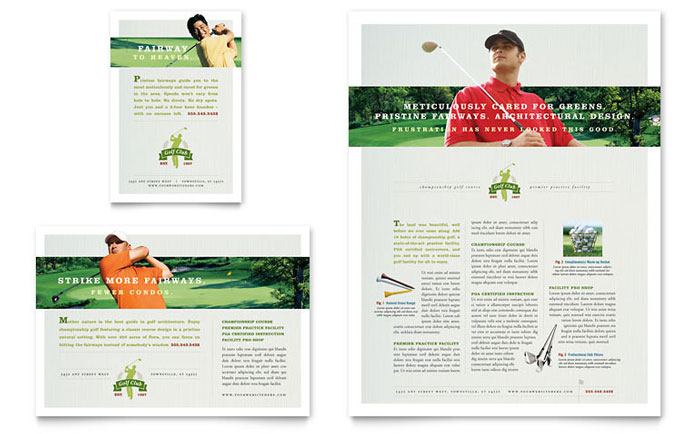 Flyer & Ad Example - Golf Course & Instruction