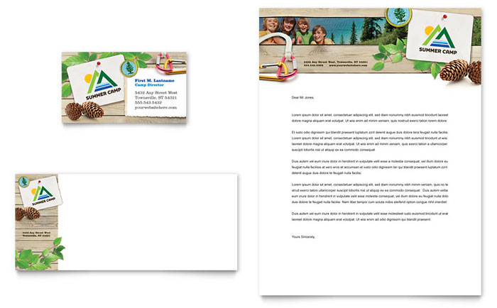Kids Summer Camp Stationery Design