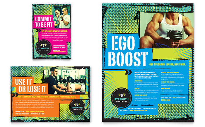 Strength Training Flyer & Ad Design