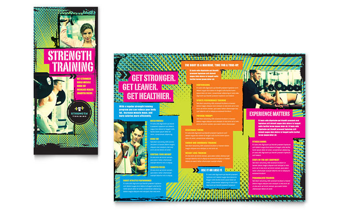 Strength Training Brochure Design