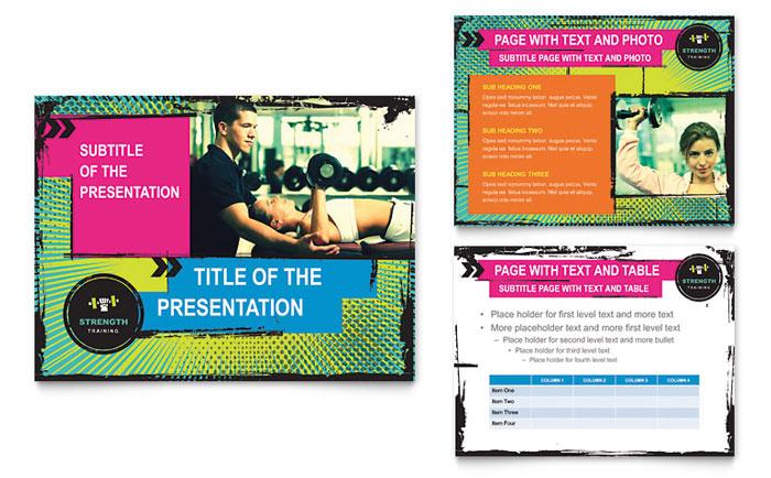 Strength Training Presentation Design