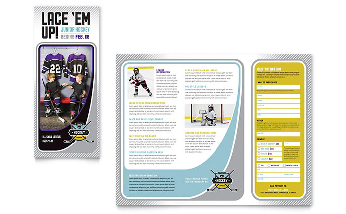 Hockey Camp - Brochure Design Sample