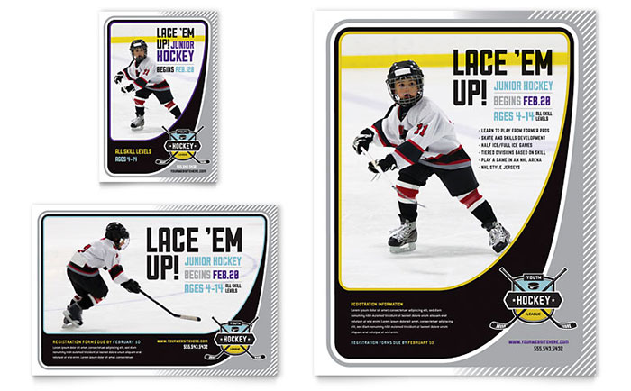 Hockey Camp - Flyer & Ad Design Sample