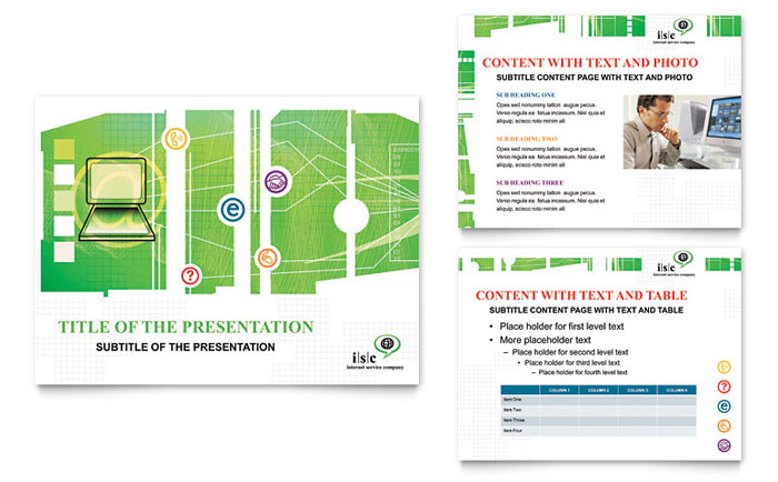 ISP Internet Service Presentation Design