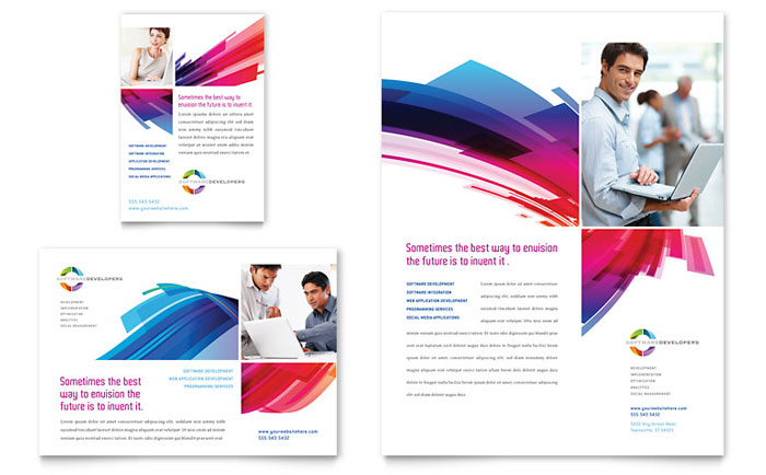 Software Solutions Flyer & Ad Sample Design