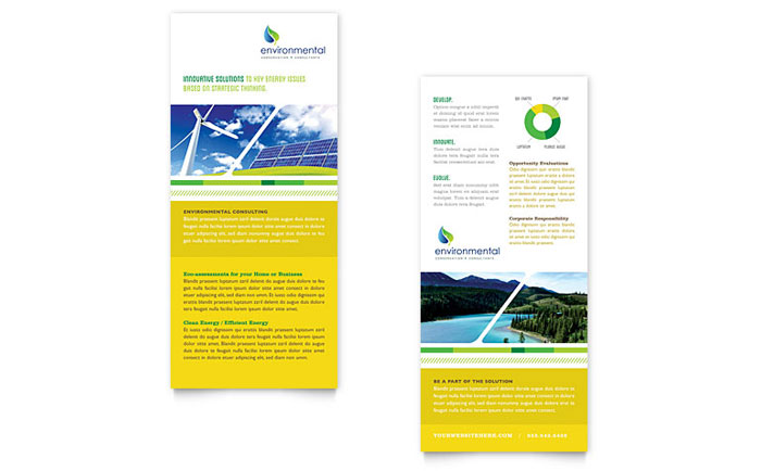 Environmental Conservation Rack Card Design