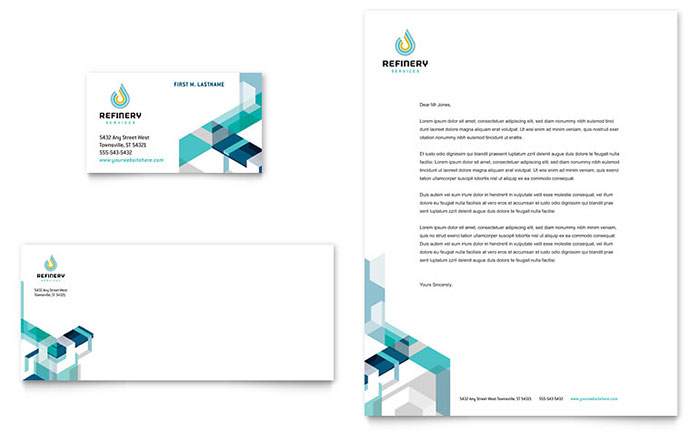 Oil & Gas Company - Letterhead & Business Card Design Example