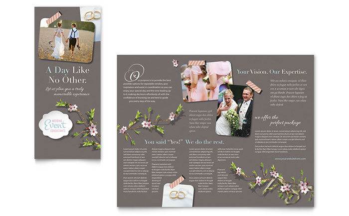 Wedding Planner - Brochure Design Idea