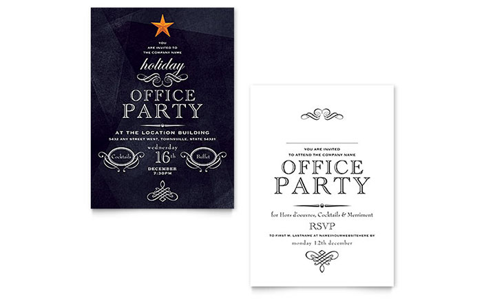 Free Holiday Party Templates corporate invitation 4 5 quot x 6 25 – Free Holiday Flyer Templates Word