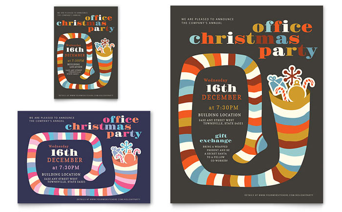 Christmas Party Flyer Design