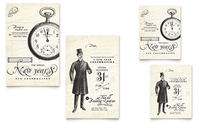 New Year's Party Invitation Design