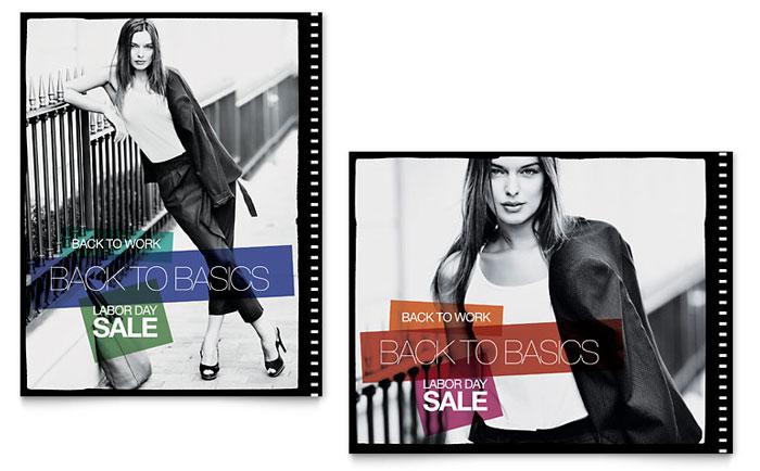 Labor Day Fashion Sale Poster Sample