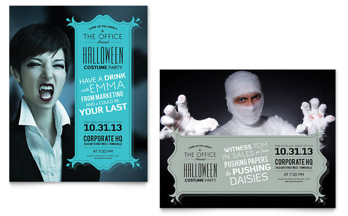 Poster Example - Halloween Office Party