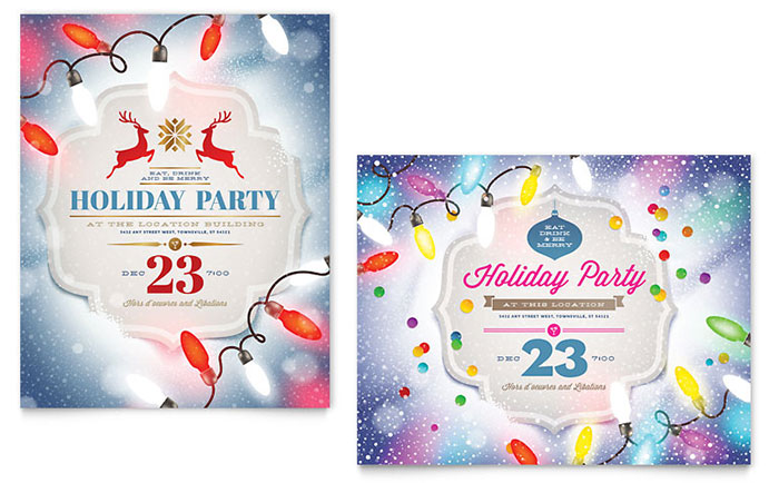 Office Christmas Party - Poster Design Examples
