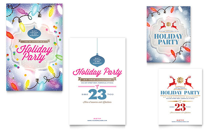Office Christmas Party - Invitation Design Examples