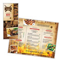BBQ Restaurant Take-out Menu Design
