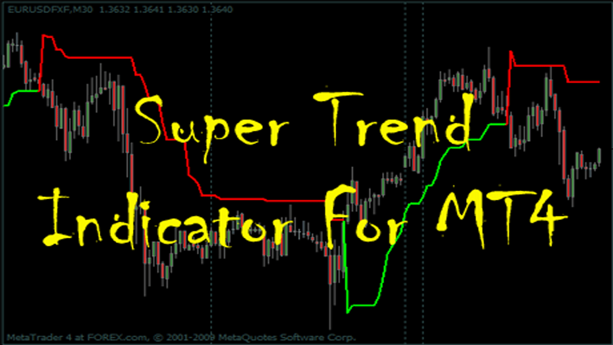 Top 2 Ways to Trade with Super Trend for MT4