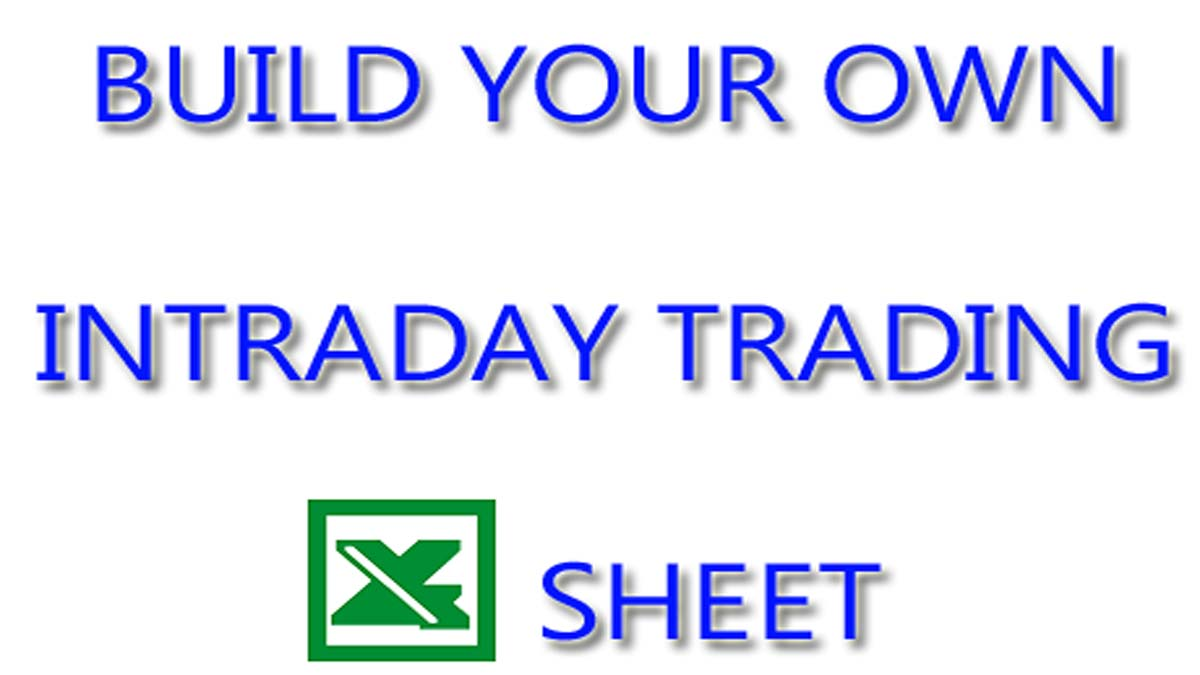Create Intraday Trading Excel Sheet From Sharekhan TradeTiger