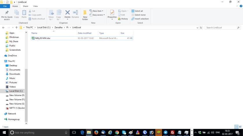 Link To Excel Zerodha Pi