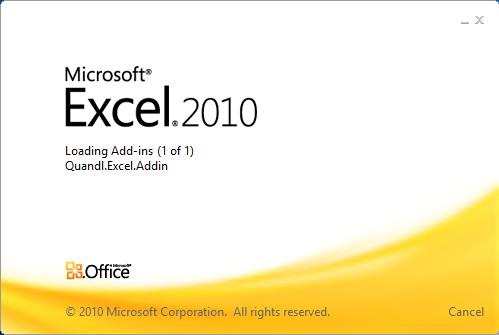 Quandl Excel Plugin
