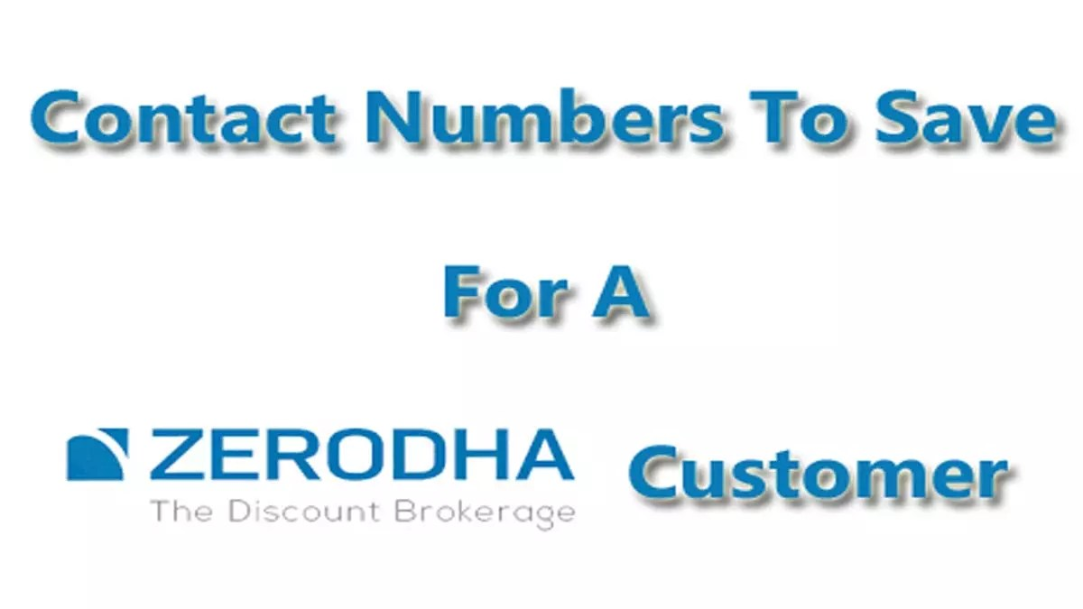 Zerodha Contact Details And Zerodha Customer Care Numbers