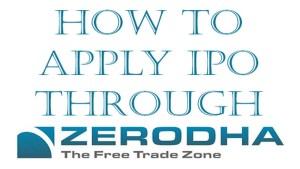 Apply IPO Through Zerodha
