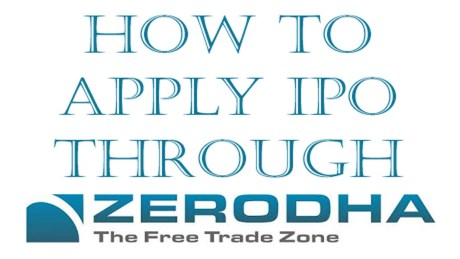 How to invest in ipo in zerodha
