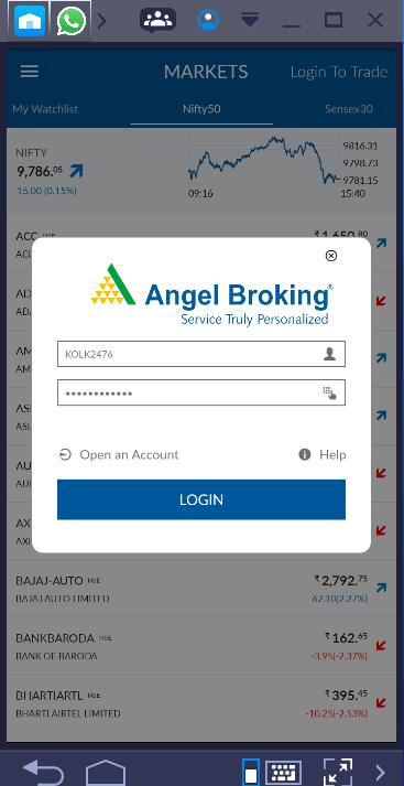 Angel Broking Mobile App Login