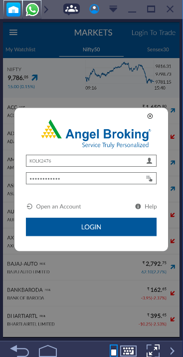 Angel Broking Mobile App Login