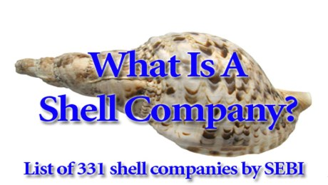 List Of Shell Companies Declared By SEBI