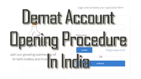 demat account opening procedure in india