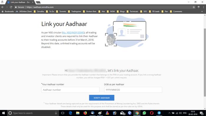 Link Aadhaar With Demat Account