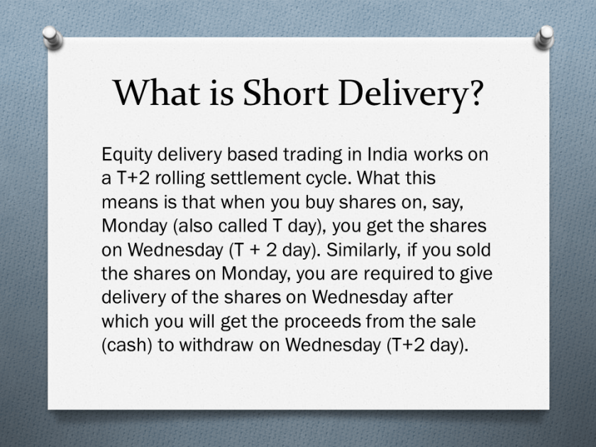 Short Delivery