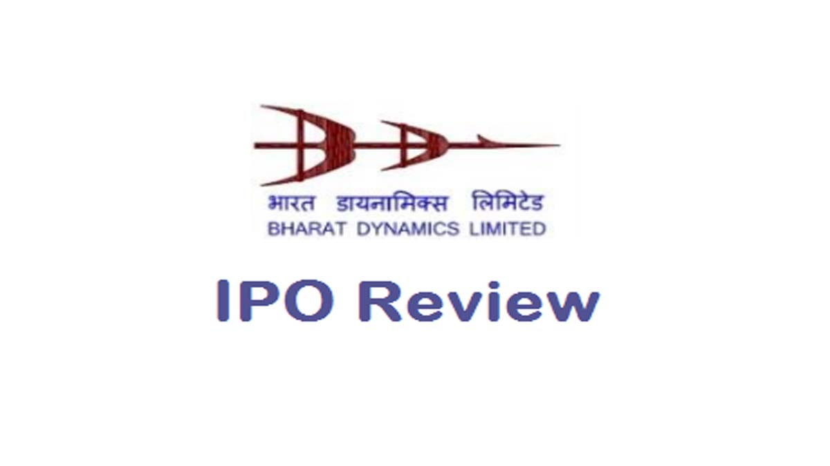 Bharat Dynamics Ltd IPO Review (Price, GMP, DRHP)