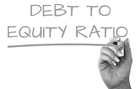 debt to equity ratio.
