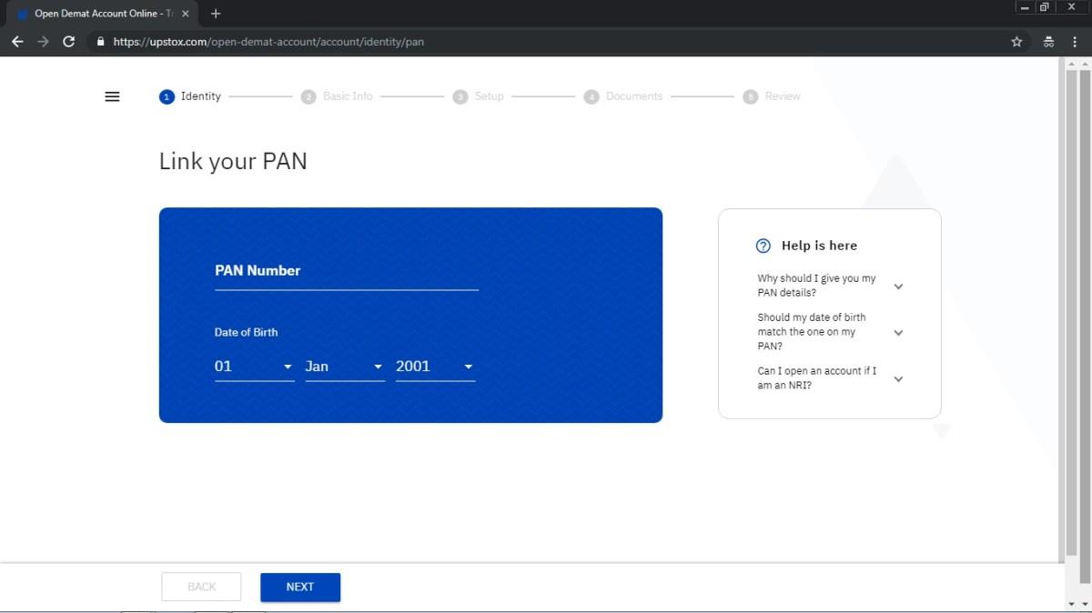 upstox account opening info