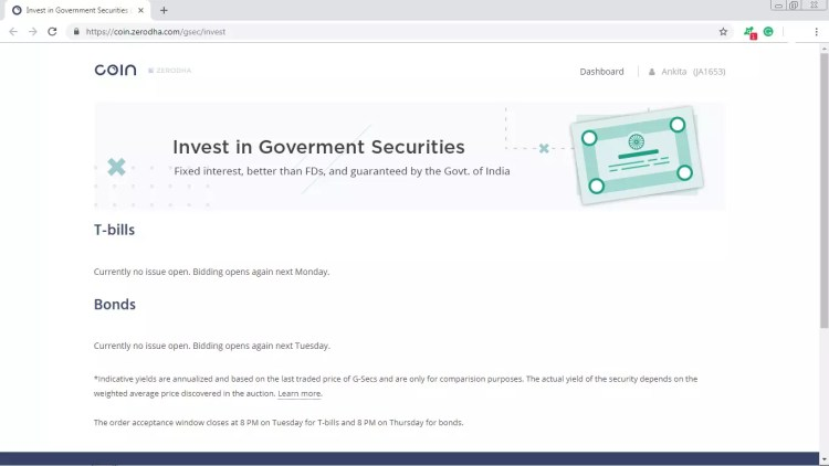 How to Buy Government Bonds Online in Zerodha