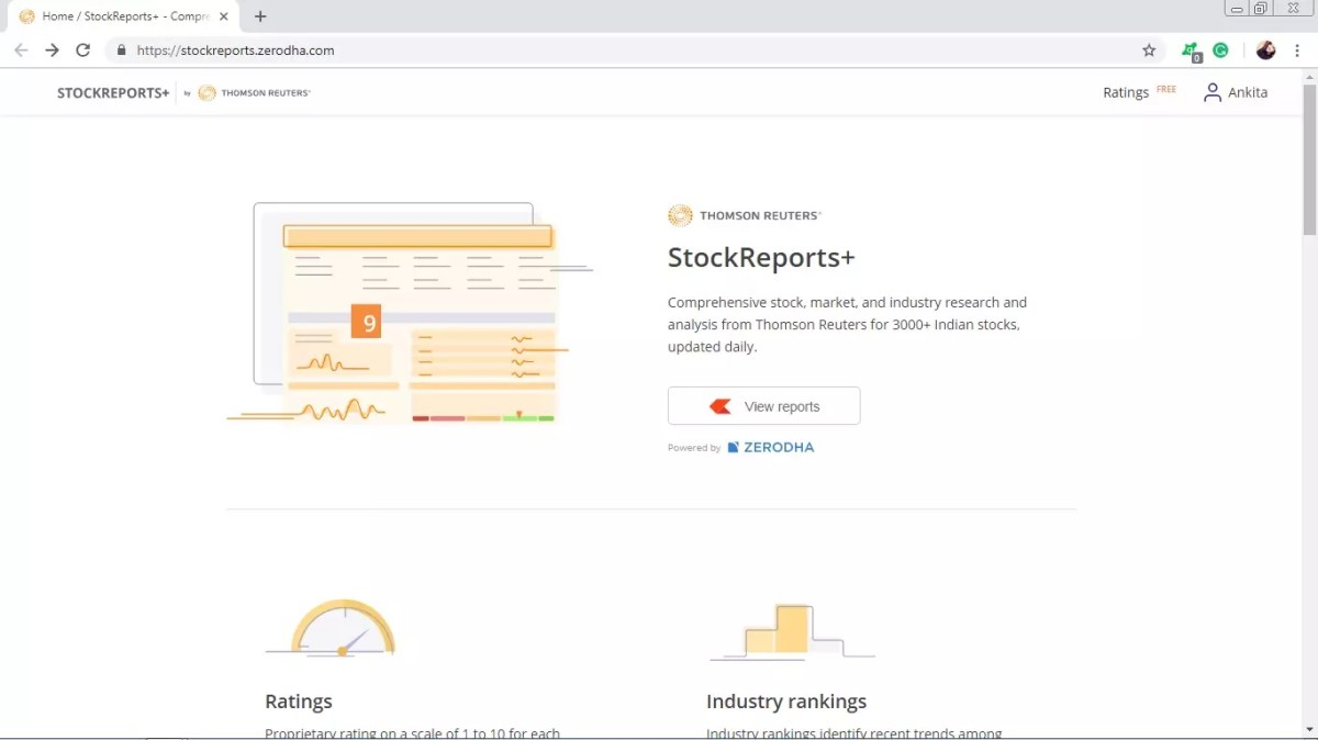 Stockreports Zerodha Review