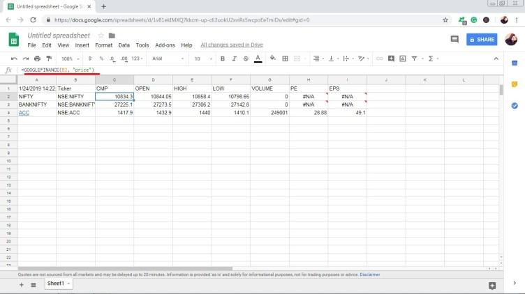 Basic Tutorial of Google Finance for Indian Stocks | StockManiacs