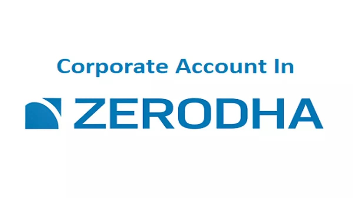 Corporate Account In Zerodha, Documents, Charges
