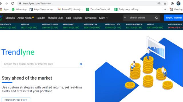 Stock screening website trendlyne
