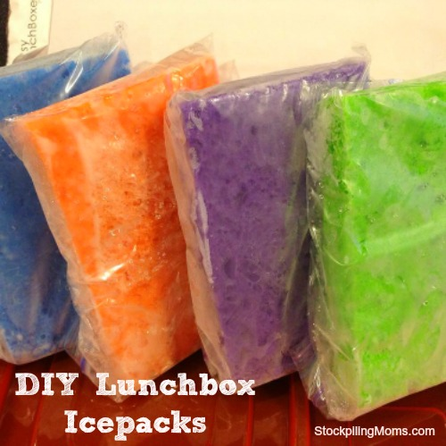 DIY Lunchbox Icepacks