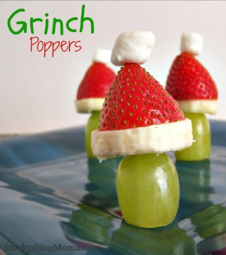 Grinch Poppers {Stockpiling Moms}